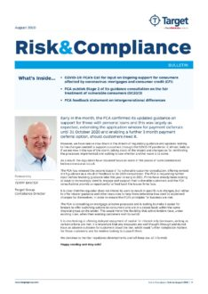 Risk & Compliance Bulletin August 2020